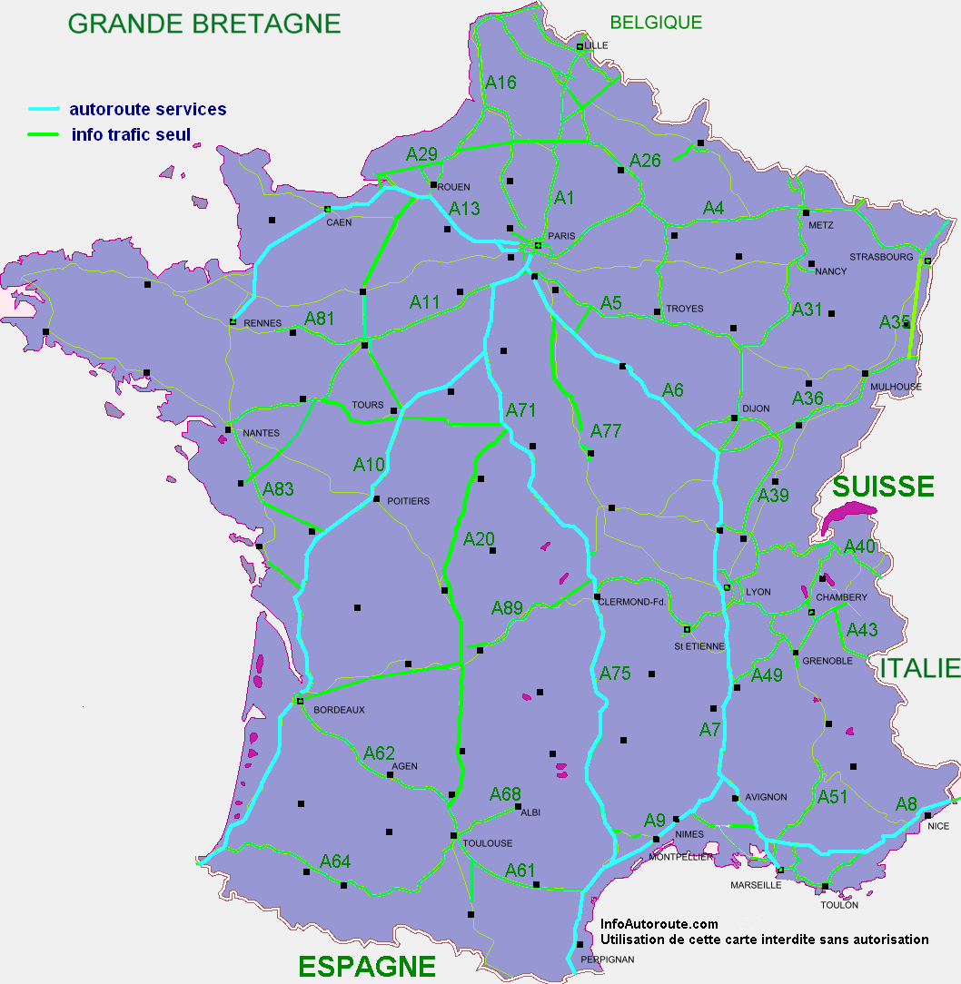 carte des autoroutes - Photo